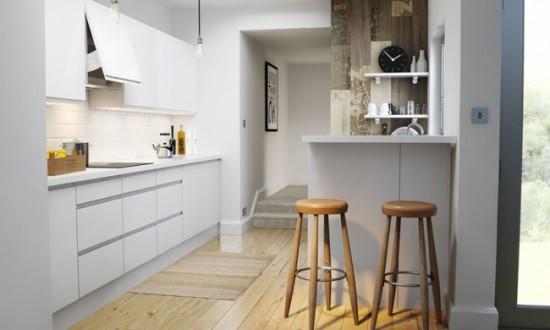 Хорошо дополняют интерьер в скандинавском стиле деревянные жлементы