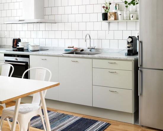 За поверхностью простой мебели в скандинавском стиле легко ухаживать