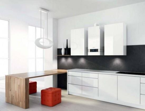 Котел можно подобрать по стилю к мебели на кухне
