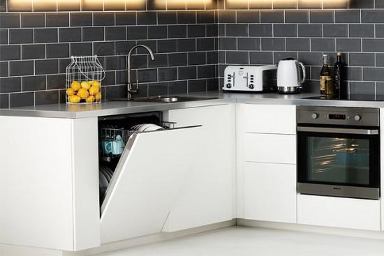Встраиваемая посудомоечная машина хорошо вписывается в любой дизайн интерьера