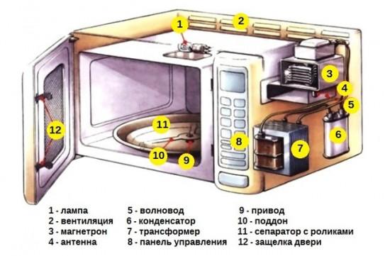 Как устроена микроволновка