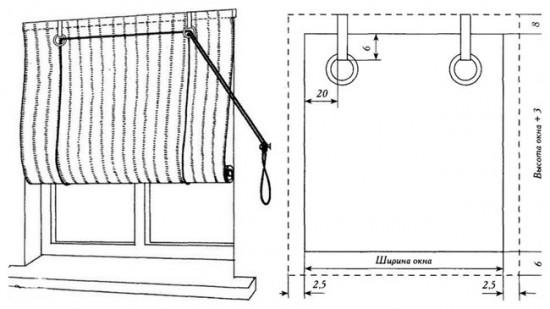 Рулонные шторы с боковым шнуром