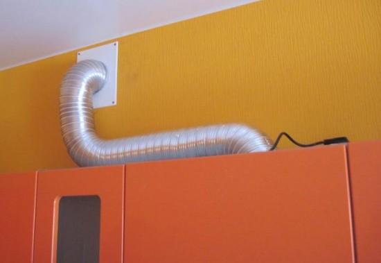 Подключение вытяжки к вентиляции