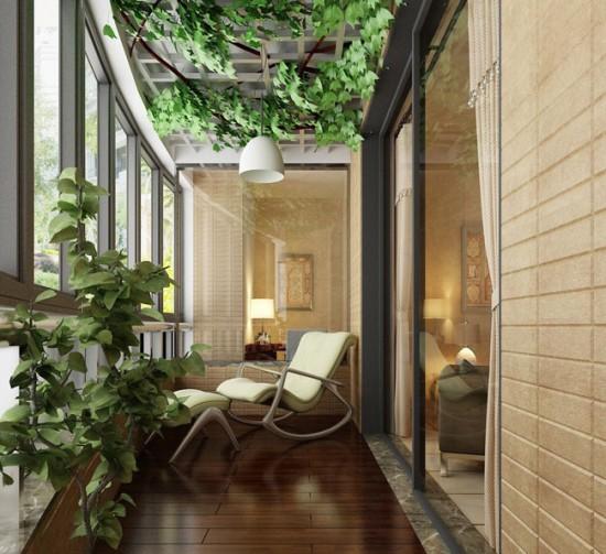 Обустройство зимнего сада на балконе требует поддержания необходимой для растений температуры в холодное время года