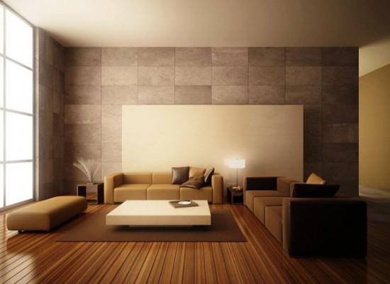 Минималистический интерьер гостиной