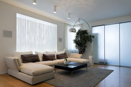 Для каждой зоны комнаты лучше предусмотреть индивидуальное освещение