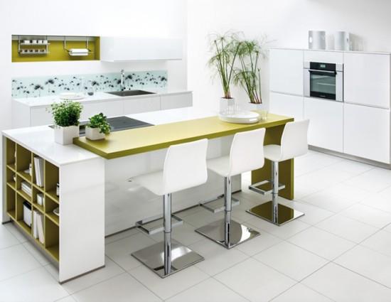 Барная стойка в кухне-студии