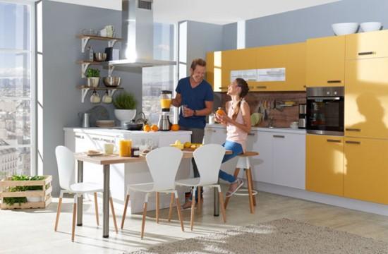 Очень важна для кухни-студии вытяжка, которая не позволит распространяться запахам по всей квартире