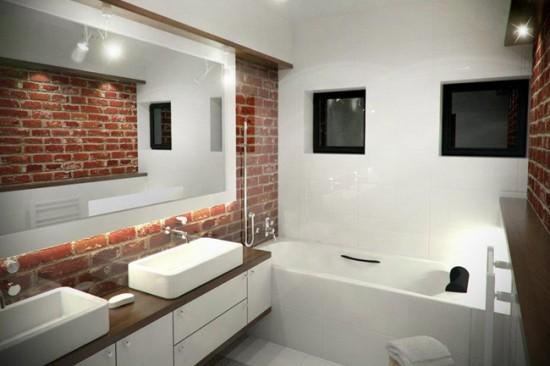 Ванная комната с элементами стиля лофт