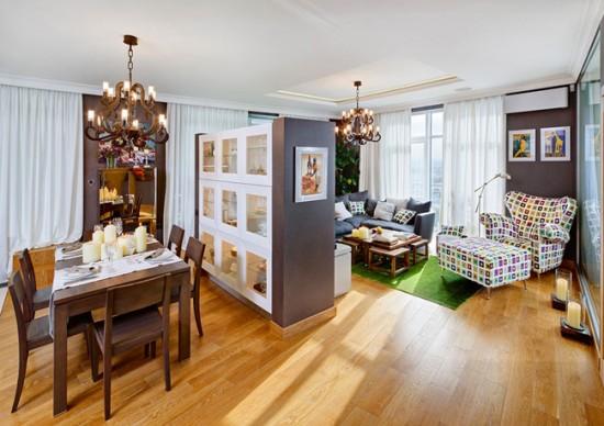 Зона гостиной в квартире-студии