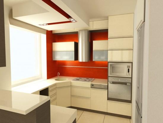 Лучше размещать подвесные модули гарнитура прям под потолком