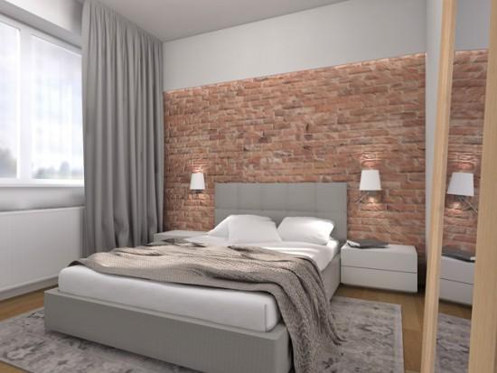Около кровати можно разместить пару небольших бра