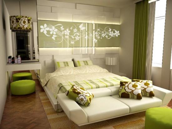 Дизайн спальни с элементами экостиля