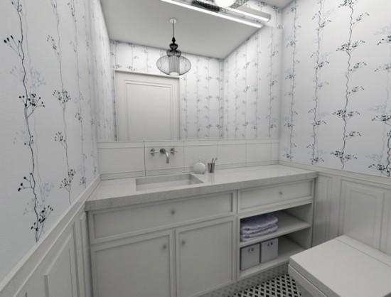 Большое зеркало просто необходимо в маленькой ванной - оно увеличивает пространство