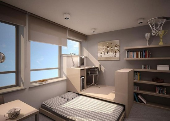 Не используйте слишком плотные шторы: пусть в комнате будет больше света