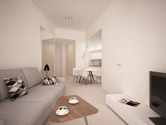 Стиль минимализм в дизайне маленькой квартиры