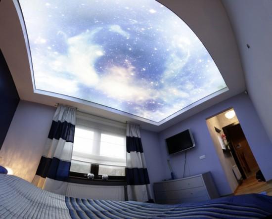 Натяжной потолок с объемным рисунком
