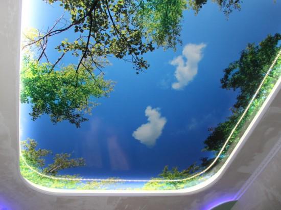 Натяжной потолок с 3D-рисунком