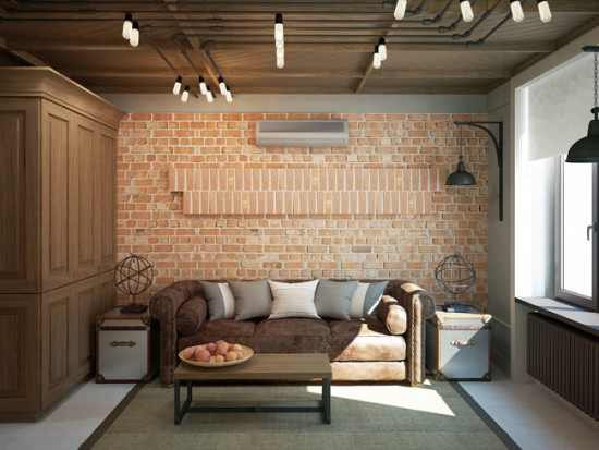 Маленькая квартира-студия в стиле лофт