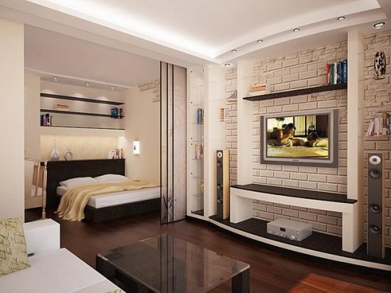 Перегородки для спальной зоны, открывающиеся в одну сторону