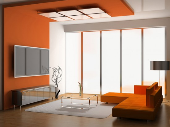 Комбинация материалов в дизайне потолка