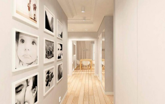 Оформление стены фотографиями членов семьи