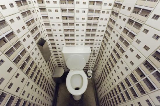 Фотообои в туалетной комнате