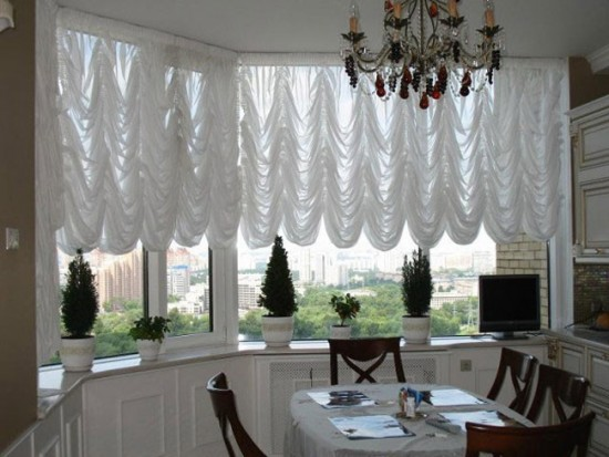 Как сшить французские шторы для кухни своими руками, фото