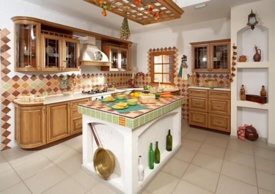 Украсят интерьер глиняная посуда и букеты полевых цветов