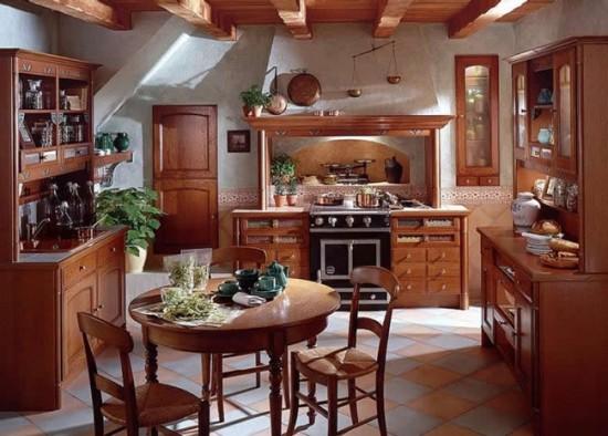 Потолок можно декорировать балками