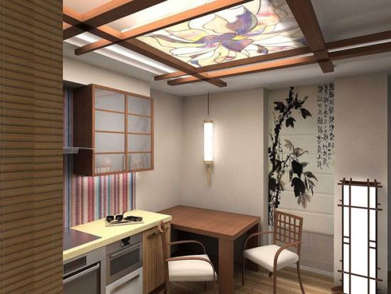 Интерьер прекрасно дополнит традиционная японская роспись