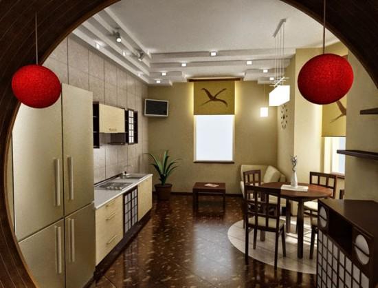 Природные тона и натуральные материалы - основа дизайна интерьера в японском стиле
