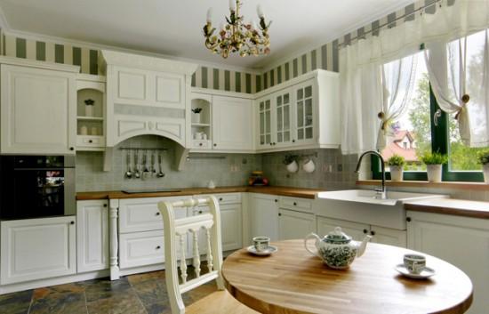 Люстра в скандинавском интерьере кухни