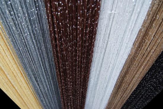 Для создания нитяных штор подходят разные типы нитей