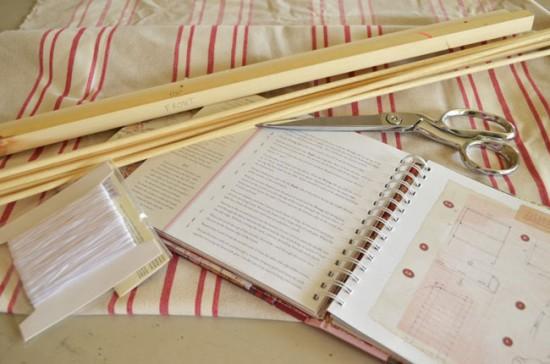 Материалы, необходимые для изготовления римских штор