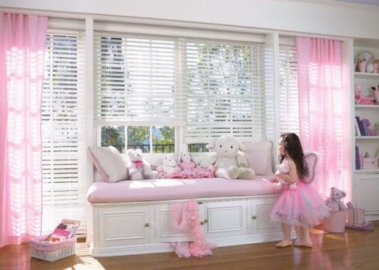 Шифоновые занавески для комнаты в стиле Барби