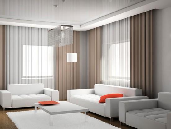 Шторы для интерьера в стиле минимализм