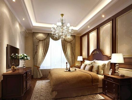 Шторы для спальни с ламбрекенами
