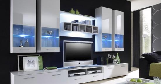 Мебель со стеклянными вставками и подсветкой