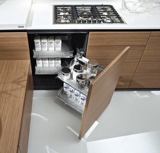Выдвижные системы хранения для кухни