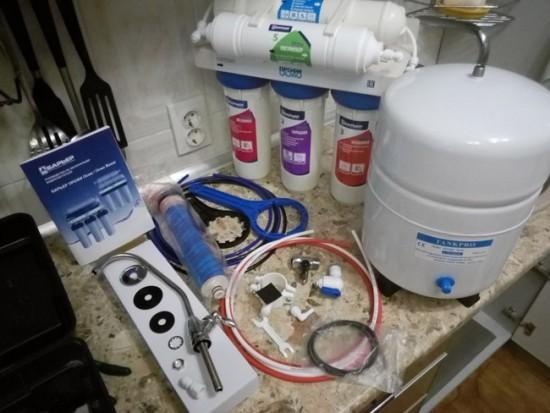 Комплектация фильтра для воды
