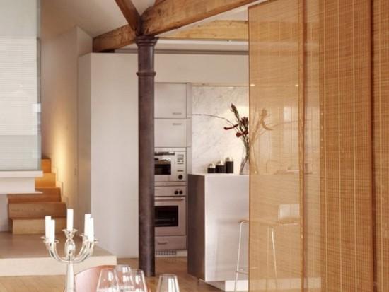 Японские шторы отлично смотрятся в разных стилях интерьера