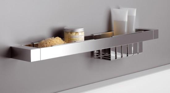 Металлическая полочка для ванной