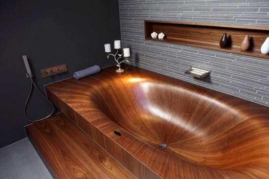 Деревянная ванна очень экологична