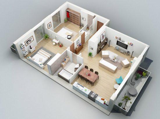 Дизайн планируется в зависимости от того, сколько человек будет проживать в квартире