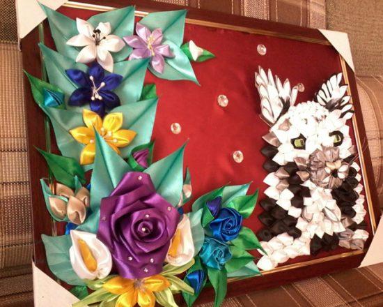 Картины в технике канзаши