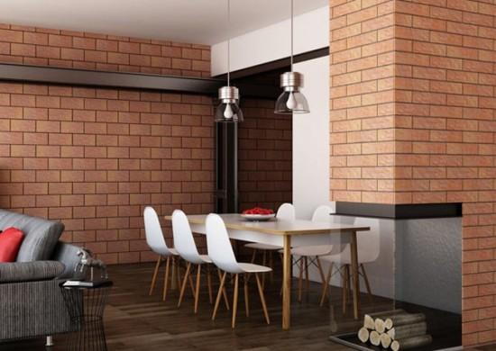 Клинкерная плитка на кухне в стиле лофт