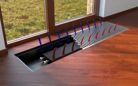 Принцип циркуляции воздуха при обогреве конвектором
