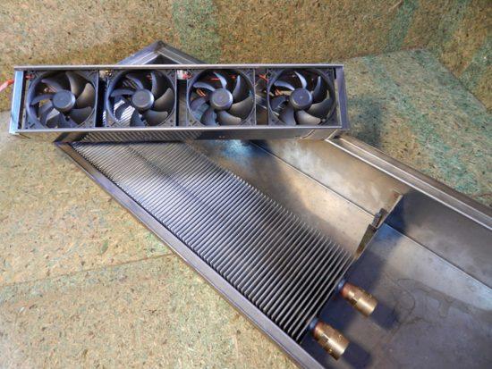 Внутрипольный конвектор с вентилятором