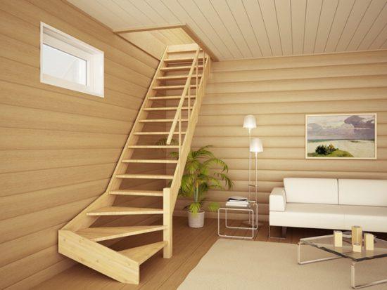 Деревянная лестница - это прежде всего экологическая безопасность